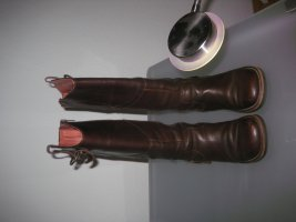 Kickers Slouch Boots brown leather