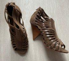 Wunderschöne Buffalo Sandale, Braun, Schlange, Gr 40, NEU