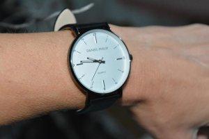 Zegarek automatyczny czarny-ciemnoszary
