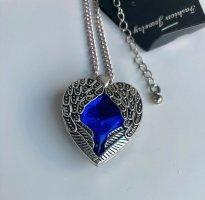 Collana dichiarazione argento-blu