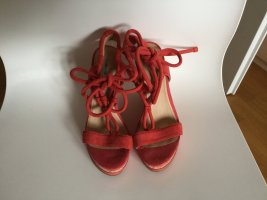 Geox Plateauzool sandalen lichtrood