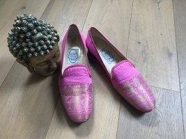 Emma Hope Mary Jane ballerina's roze-goud Zijde
