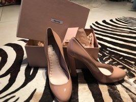 Wunderschöne Miu Miu Nude High Heels- super bequem