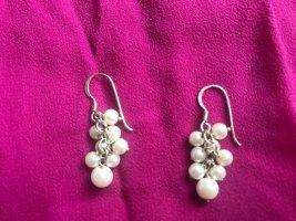 Wunderschöne natürliche Perlenohrringe in Traubenform mit 925 Silberhaken
