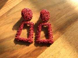 Statement Earrings dark red