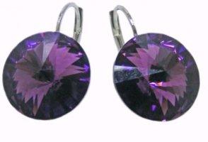 Swarovski Elements Dangle dark violet