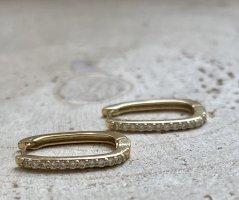 Wunderschöne Ohrringe mit zirkonia steinchen silber 925 vergoldet