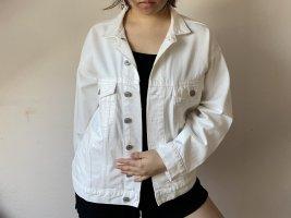 Wunderschöne Oversized Denim Jacke in weiß