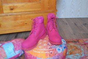 wunderschöne Pinkfarbene Timberlands