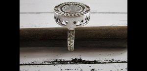 925 Srebrny pierścionek srebrny