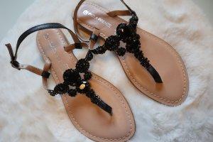 Vero Cuoio Toe-Post sandals black-brown leather