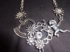 Collar estilo collier color plata metal