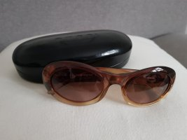 Gucci Occhiale da sole ovale marrone chiaro