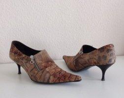 Wunderschöne Stiefelette Halbschuhe braun  Gr.39  Leder