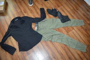 Wunderschöne strechige Bluse schwarz Gr. 40 von MEXX