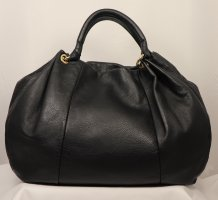 Vera Pelle Pouch Bag black-sand brown leather