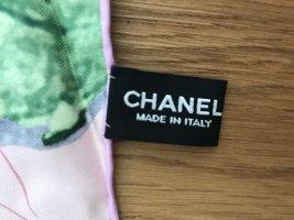 Wunderschöner Chanel Seiden Schal Rosa mit Rose