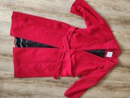 Mango Suit Manteau en laine rouge brique mohair