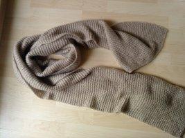Écharpe en tricot brun sable acrylique