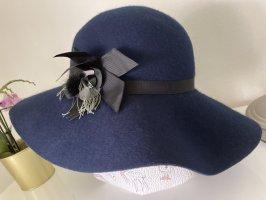 Rich & Royal Cappello di lana nero-blu scuro