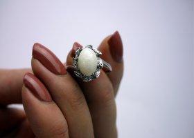 Gouden ring wit-lichtgrijs Goud