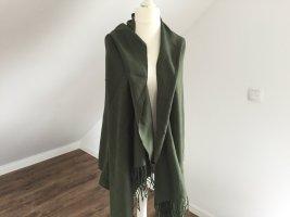 Pashmina verde bosco-verde scuro