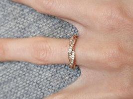 Pandora Anello d'argento bianco-color oro rosa Argento