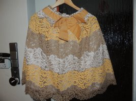 Rinascimento Falda de encaje amarillo oscuro