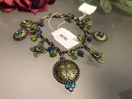 Bracelet à breloques gris vert-vert clair