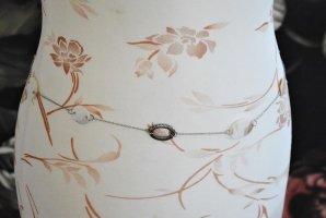 Cinturón de cadena blanco puro-color plata