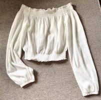 Brandy & Melville Camicia cropped bianco-bianco sporco