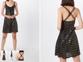 About You Evening Dress black-gold-colored viscose