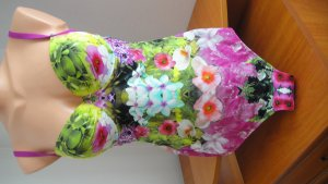 100% Fashion Swimsuit multicolored spandex