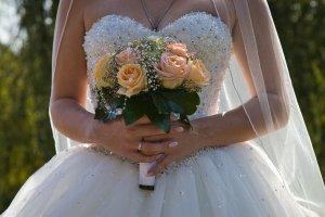 Wundervolles Prinzessinnen-Brautkleid von Morilee