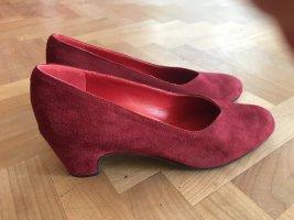 Chaussure décontractée rouge foncé cuir