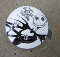 XL Nightmare before Christmas Button Pin Anstecker