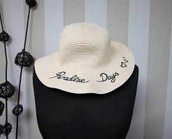 Chapeau de soleil rosé-noir