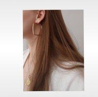 XL Viereck Ohrringe in Gold Neu