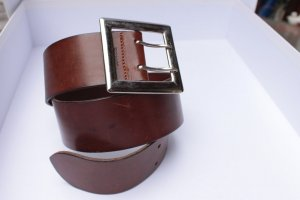 Esprit Cintura di pelle marrone Pelle