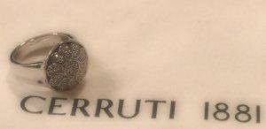 #XMAS - Bezaubernder großer Silberring mit Blume - Cerruti 1881