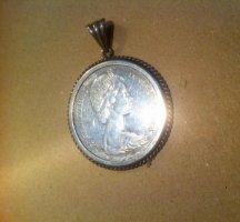 Canada -Silberdollar 1965 in unfixierter SilberschmiedeFassung,