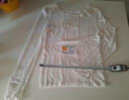 XS langärmeliges Shirt weiß