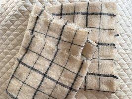 Zara Knitted Scarf oatmeal-dark grey