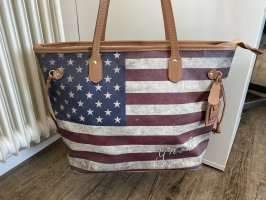 Y Not? Shopper mit Amerika Flagge