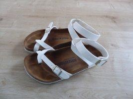 Birkenstock Sandales confort blanc cuir