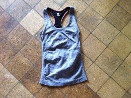 H&M Top basic grigio scuro-antracite