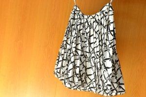 Yves Saint Laurent Plaid Skirt white-black