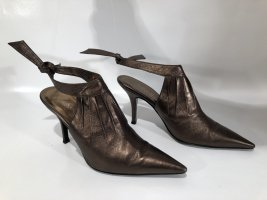 YSL Yves Saint Laurent Spitzpumps Bronze Gr.37,5