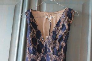 Yumi Spitzenkleid blau-beige Gr. UK 8/EU 36 fäll klein aus  wie Gr.34