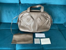 Yves Saint Laurent Bowler Bag in Taupe Leather